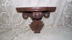 WALL HANGING ORNATE SCONCE PLATE CANDLE FIGURINE HOLDER WOOD LOOK DESIGN #PLATEHOLDERS