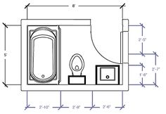 Ada handicap bathroom floor plans for Bathroom design 9x7