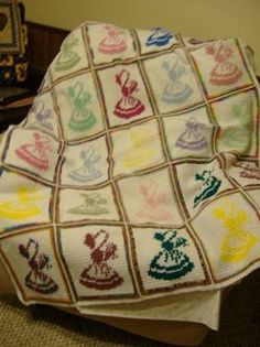 $70 Sunbonnet Sue Crocheted Afghan. for Sale in Heflin, Alabama Classified | ShowMeTheAd.com