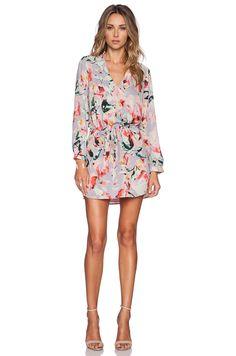 Eight Sixty Shirtdress in Lavender, Pink & Black | REVOLVE