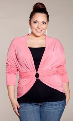 Plus Size Cardigan Wrap at www.curvaliciousclothes.com
