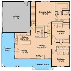 Plan 72678DA: Prairie Style Ranch Home Plan