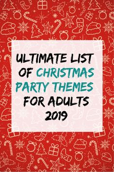 Looking for fun Christmas party themes? Pick one of these 38 Christmas party themes for adults! From Christmas movie themes to food-related party ideas, you'll find the perfect idea here. Lots of fun and unique ideas! Check it out! Christmas Party Themes For Adults, Fun Christmas Party Ideas, Holiday Party Themes, Adult Christmas Party, Adult Party Themes, Office Holiday Party, Xmas Party, Movie Themes, Christmas Holiday
