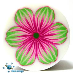 Pink and green flower cane