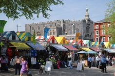 Norwich Market and Guildhall Norwich Market, Norwich Norfolk, Google Images, Places To Travel, Countryside, Times Square, Street View, England, London