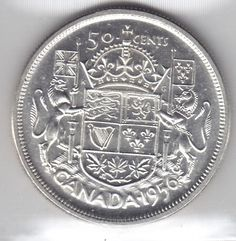 1956 Canada Silver 50-Cent Half Dollar Coin - Graded M S 60 By ICCS - http://coins.goshoppins.com/candaian-coins/1956-canada-silver-50-cent-half-dollar-coin-graded-m-s-60-by-iccs/