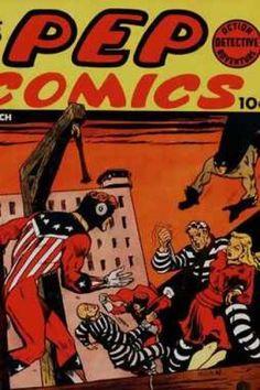 PEP COMICS 25 THE SHIELD, HANGMAN GOLDEN AGE MJL COMICS