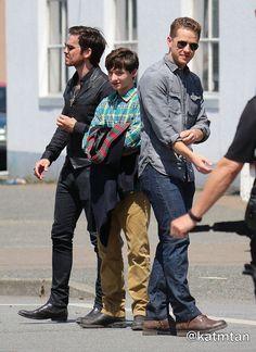 Josh, Jared, & Colin on set (July 17, 2015)