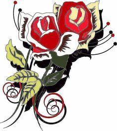 23 Gambar Tato Bunga Rose Terbaik Tato Bunga Rose Tato Bunga