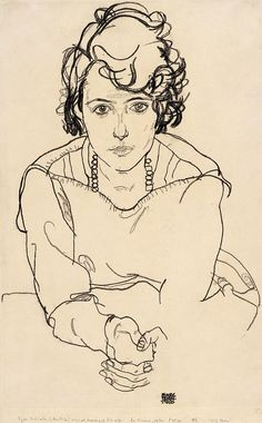 Egon Schiele Painting - Seated Woman by Celestial Images