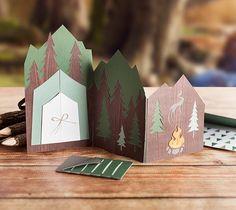 Interactive Mountain Card - Possible bachelorette party invite