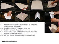 fortune teller instructions