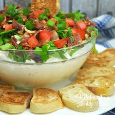This BLT dip recipe is super easy and tasty. If you love BLT sandwiches as much as I do, you're going to love this dip. I think this will be a huge hit and weekend get-togethers this summer!