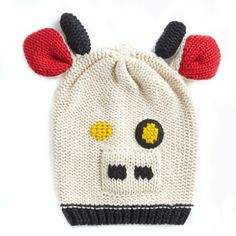 blackLeigh Tucker Willow Animal Beanie Hat Cow Hat, Cute Cows, Beanie Hats, Mittens, Horns, Little Ones, Knitted Hats, Pairs, Knitting