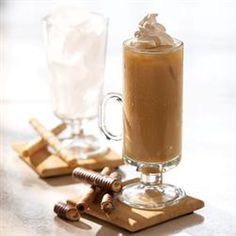 Creamy Instant Iced Coffee...combine 1 (12 oz.) can  Evaporated Milk, 2 Tablespoons Folgers Instant Coffee Crystals, 1/3 cup sugar (or to taste) in blender until coffee crystals are dissolved. Pour over ice and top with whipped cream, serve immediately.