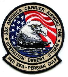 "CV-66 USS AMERICA/CVW-1 ""OPERATION DESERT STORM"" Red Sea / Persian Gulf CRUISE PATCH"