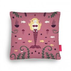 Floral Mermaid Cushion