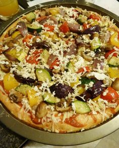 BBQ Roasted Vegetable Pizza.