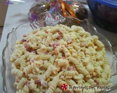 Easy Eve's Macaroni Salad Recipe by evakorpa – Easter Pasta Recipes, Salad Recipes, Cooking Recipes, Finger Food Appetizers, Appetizer Recipes, Kids Party Menu, Salad Bar, Greek Recipes, Different Recipes