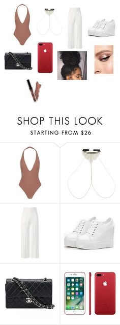 """Untitled #152"" by lalashotspot on Polyvore featuring Alix, River Island, Roland Mouret, Chanel and Apple"