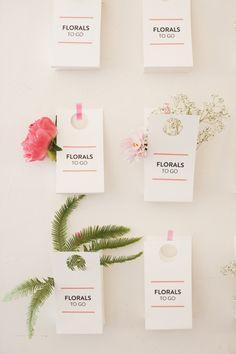 Florals To Go Bags after wedding (inspiration via blogshop)