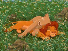 Simba and Nala snoozing by dukacia.deviantart.com