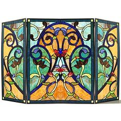 1000 Ideas About Stained Glass Fireplace Screen On