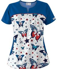 Discount Fourth of July Scrubs & Holiday Scrubs on Sale Stylish Scrubs, Cute Scrubs, Scrubs Uniform, Sewing Blouses, Nursing Shoes, Medical Scrubs, Star Butterfly, Scrub Tops, Work Attire