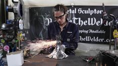 Creating Metal Sculpture Skull Face Woman With Skull Butterfly Wings Scu... Skull Face, Butterfly Wings, Barbie, Sculpture, Woman, Welding, Create, Metal, Artist