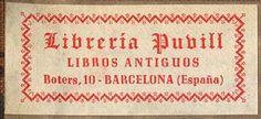 Libreria Puvill, Barcelona, Spain (51mm x 23mm, ca.1942).