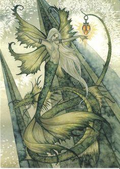 Faerie Amy Brown green mermaid - blank | Flickr - Photo Sharing!