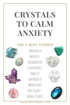 Calming Crystals for Anxiety & Stress Relief Amazonite is an extremely soothing stone that alleviates worries and fears. Amethyst is extremely beneficial fo