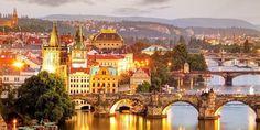 Prague cityscape at night. Prague cityscape at a night , Christmas Destinations, Travel Destinations, Budapest, Cheap City Breaks, Cheap Flights To Europe, Road Trip Planner, Visit Prague, Old Town Square, Prague