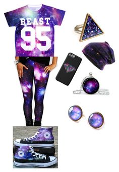 Galaxy by urbanfashionstyle on Polyvore featuring polyvore, fashion, style and Converse
