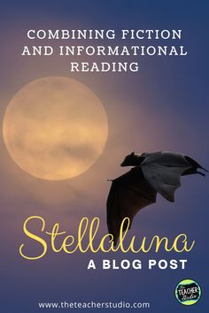 Stellaluna is a classic story which is a wonderful mentor text to use to teach so many elements of fiction. That being said, it is ALSO a wonderful text to use to help students make connections between narrative texts and informational texts. Check out this blog post for details and teaching hints about using Stellaluna in your classroom! Historical Fiction Books, Fiction And Nonfiction, Stellaluna, Informational Texts, Learning Targets, Halloween Math, Blooms Taxonomy, Love Math, Mentor Texts