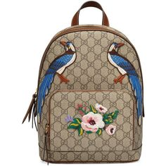 Gucci Exclusive Gg Supreme Backpack ($1,275) ❤ liked on Polyvore featuring bags, backpacks, handbags, women, gucci, gucci knapsack, daypack bag, flower backpack and backpack bags