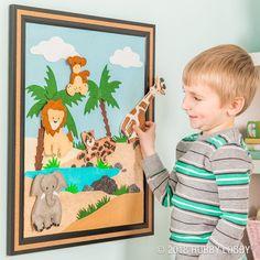 Set the safari scene with a custom felt and magnet board!