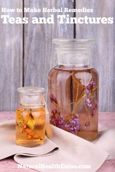 Learn How to Make Herbal Remedies using Teas and Tinctures.