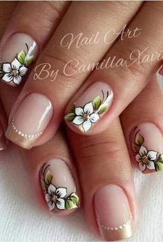 Flower Nail Designs, Colorful Nail Designs, Nail Designs Spring, Nail Art Designs, Nails & Co, Hair And Nails, Gel Nails, Cute Spring Nails, Sassy Nails
