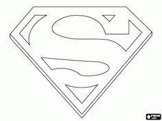 Superhero Coloring Pages Superman Logo jman Pinterest