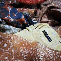 Beautiful fabrics from Amanda Hartanto Batik, Indonesia. Can't wait to wear these babies!