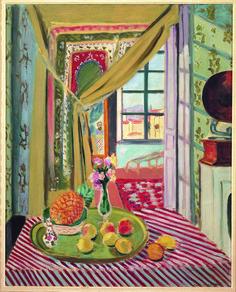 """Henri Matisse (French, 1869-1954) - """"Interior with phonograph"""", 1934 - Oil on canvas - Torino (Italy), Pinacoteca Giovanni e Marella Agnelli"""