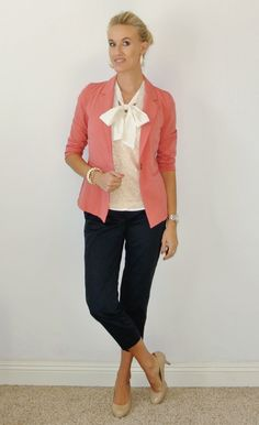 Outfit: 2 for 1 pink + navy + sequins