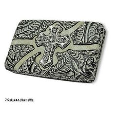Western Cross Design Bone Wallet #country #cowgirl #accessories #fashion #popular #womens #style #trendy #purse #bling #hunting #3d #boutique #buckle #western #religious #beige