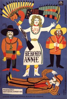 1958 Polish poster for ANNIE GET YOUR GUN (George Sidney, USA, 1950)