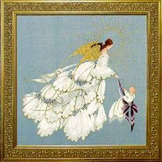 Angel of Mercy II Counted Cross Stitch Kit Embroidery Patterns by Lavender & Lace Cross Stitch Fairy, Cross Stitch Angels, Cross Stitch Kits, Cross Stitch Charts, Cross Stitch Designs, Cross Stitch Patterns, Cross Stitching, Cross Stitch Embroidery, Modern Embroidery