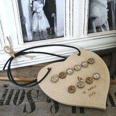 Typewriter Key Personalised Wedding Heart - £65