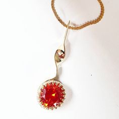Gold Orange Pendant Necklace | Appleton Trophy