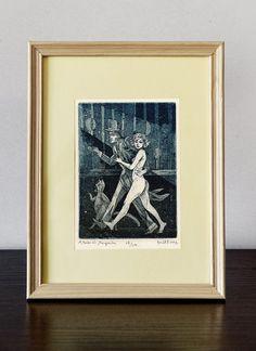 Master and Margarita - Illustration   original etching prints