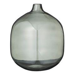 Røgfarvet glasvase fra Bloomingville | Designfund